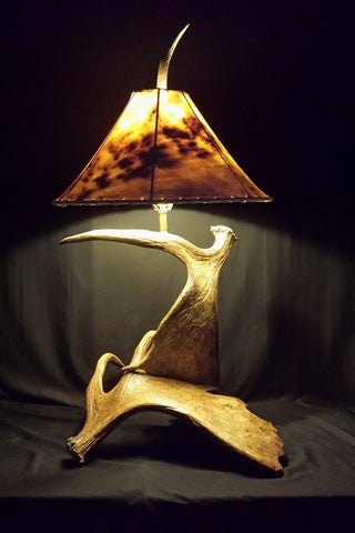 Bullwinkle Moose Antler Table Lamp - RMAW