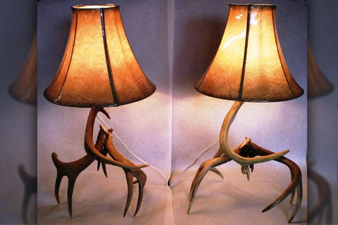 Night Stand Antler Lamps (Set) - Rocky Mountain Antler Works