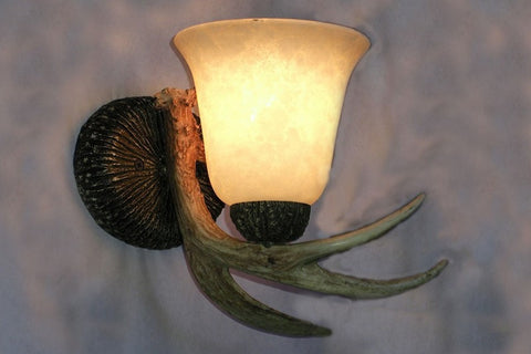 White Tail Antler Sconce - RMAW