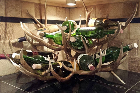 Double Decker – Mule Deer Wine Rack – 10+ Bottle - RMAW