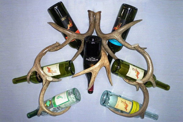 Wine Rack – Wall Mount – 7 Bottle - Rocky Mountain Antler Works