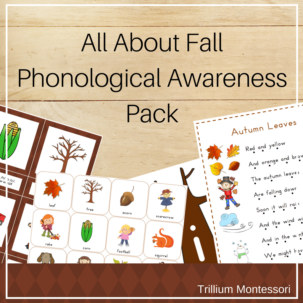 All About Fall Phonological Awareness Pack - Trillium Montessori
