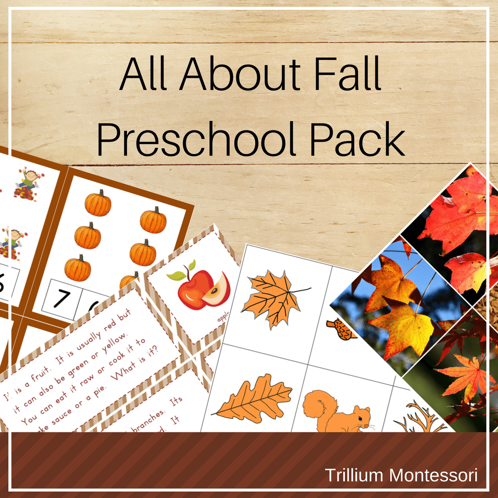 All About Fall Preschool Pack - Trillium Montessori