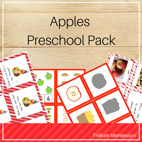 Apples Preschool Pack - Trillium Montessori