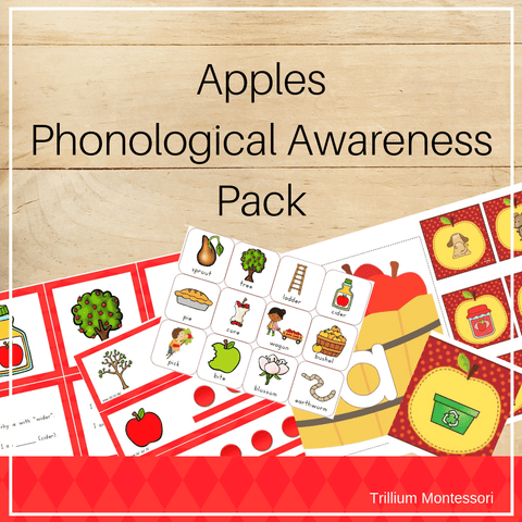 Apples Phonological Awareness Pack - Trillium Montessori