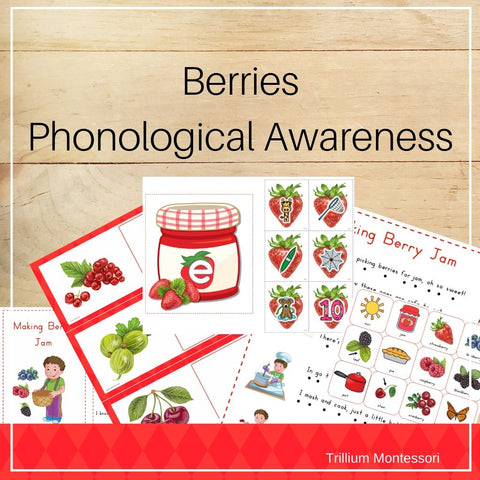 Berries Phonological Awareness Pack - Trillium Montessori