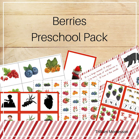 Berries Preschool Pack - Trillium Montessori