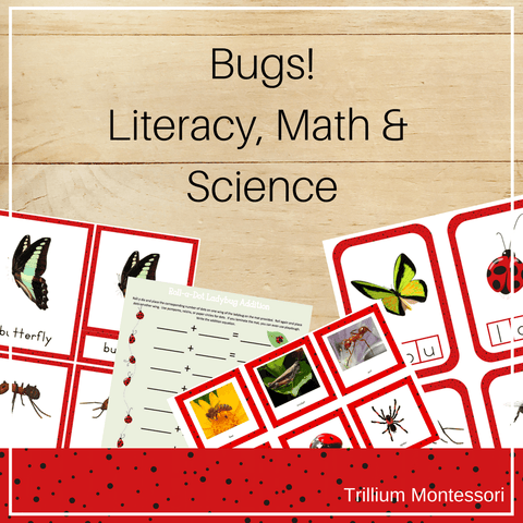 Bugs! Literacy, Math and Science Bundle - Trillium Montessori