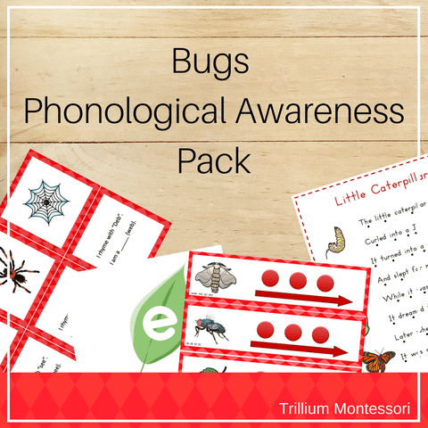 Bugs Phonological Awareness Pack - Trillium Montessori