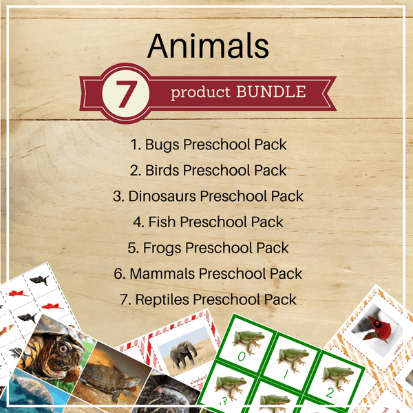 Bundle 3: Animal Preschool Packs - Trillium Montessori