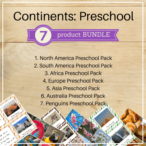 Bundle 2: Continents Preschool Packs