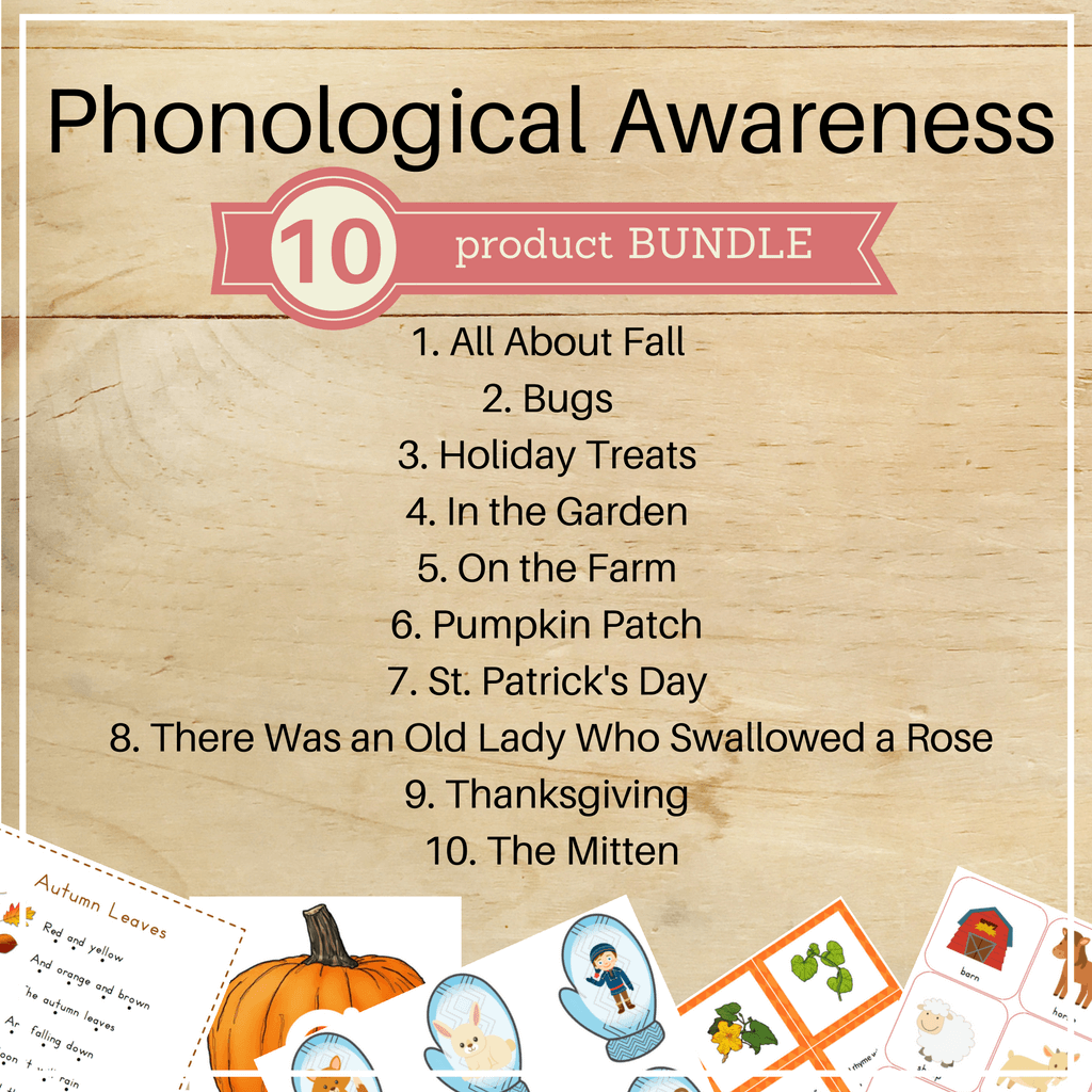 Bundle 4: Phonological Awareness Packs - Trillium Montessori