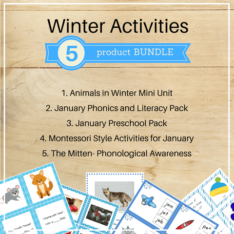 Bundle 7: Winter Activities - Trillium Montessori