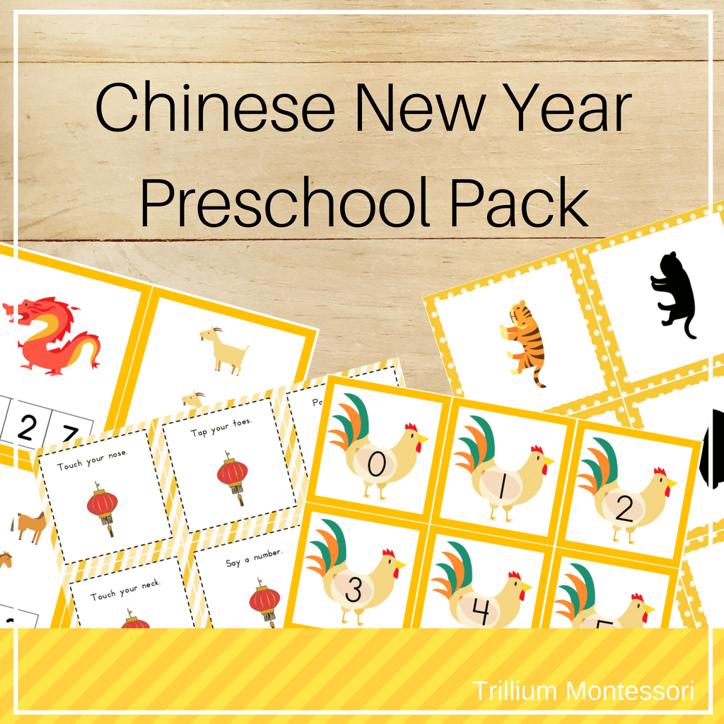 Chinese New Year Preschool Pack - Trillium Montessori