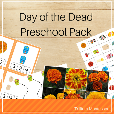 Day of the Dead Preschool Pack - Trillium Montessori