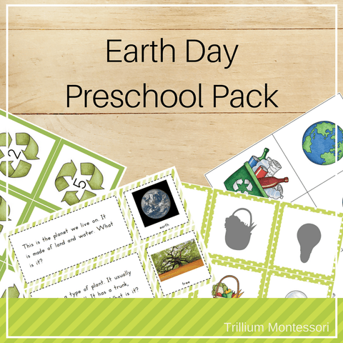 Earth Day Preschool Pack - Trillium Montessori