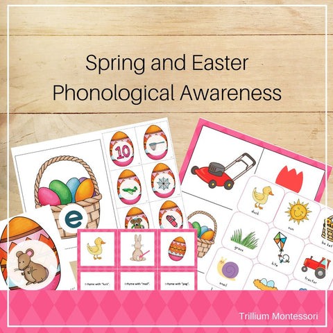 Easter and Spring Phonological Awareness Pack - Trillium Montessori
