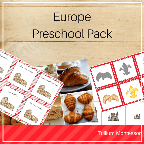 Europe Preschool Pack - Trillium Montessori