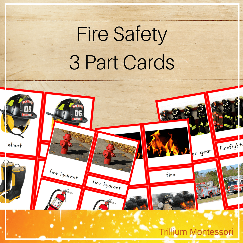 Fire Safety 3 Part Cards