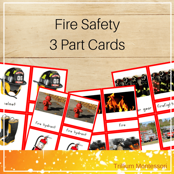 Fire Safety 3 Part Cards - Trillium Montessori
