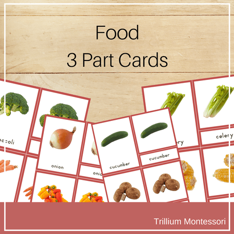 Food 3 Part Cards - Trillium Montessori