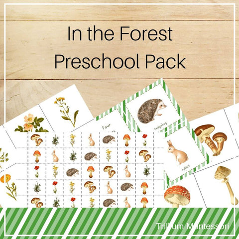 Forest Preschool Pack - Trillium Montessori