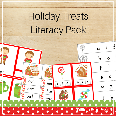 Holiday Treats Literacy Activities - Trillium Montessori