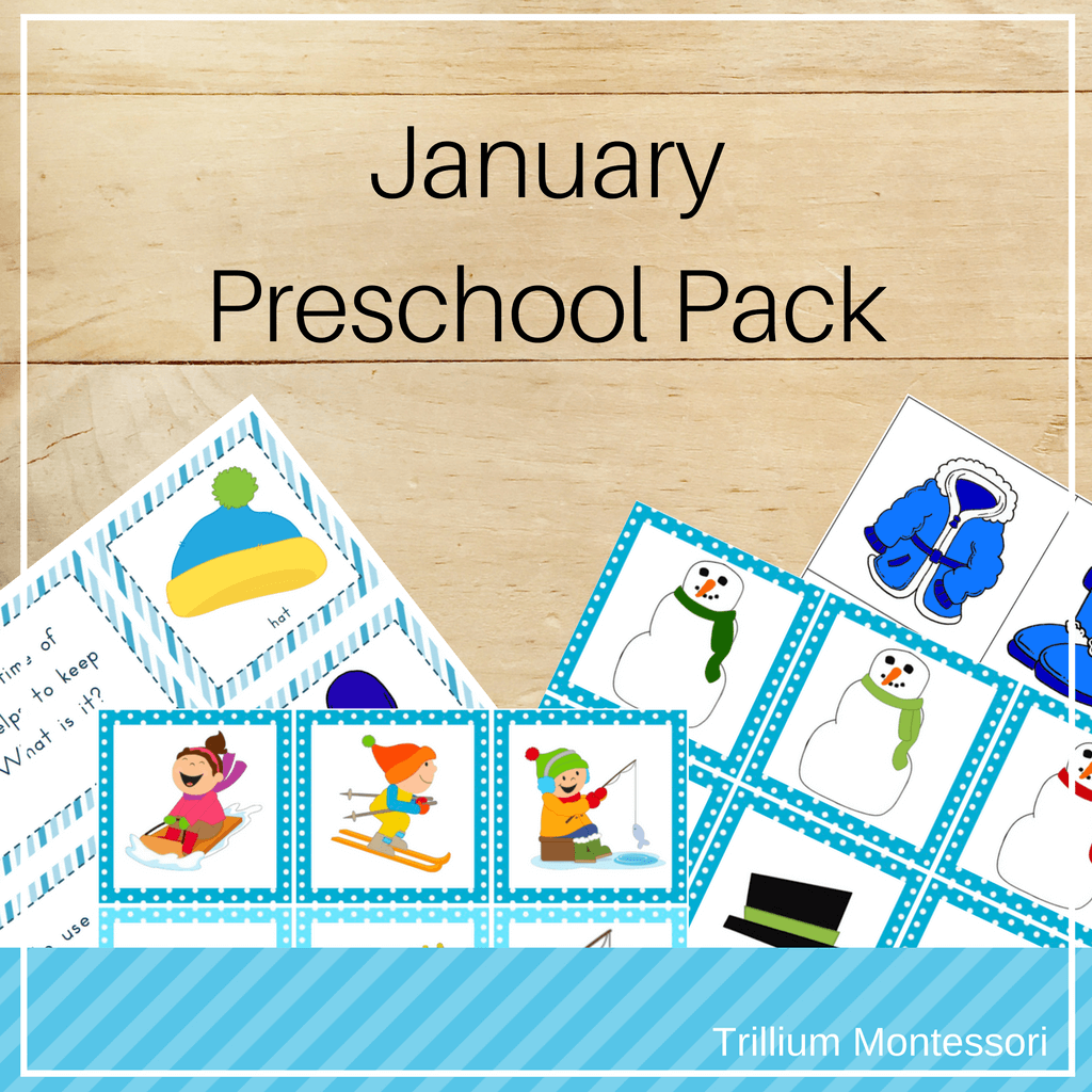 January Preschool Pack - Trillium Montessori