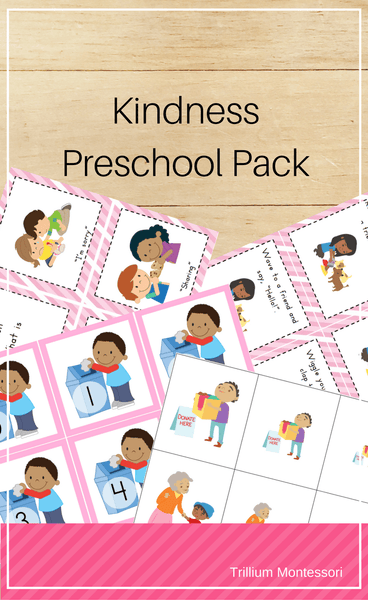 Kindness Preschool Pack - Trillium Montessori