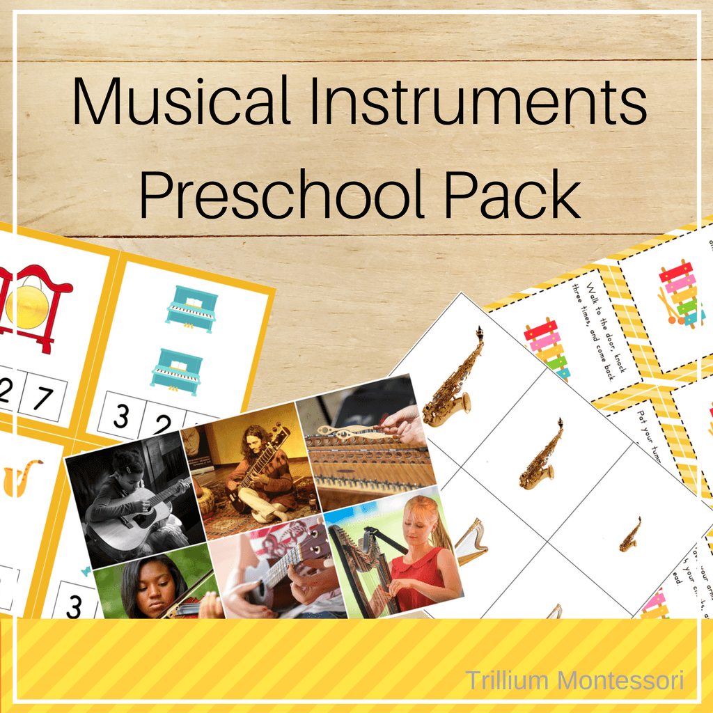 Musical Instruments Preschool Pack - Trillium Montessori