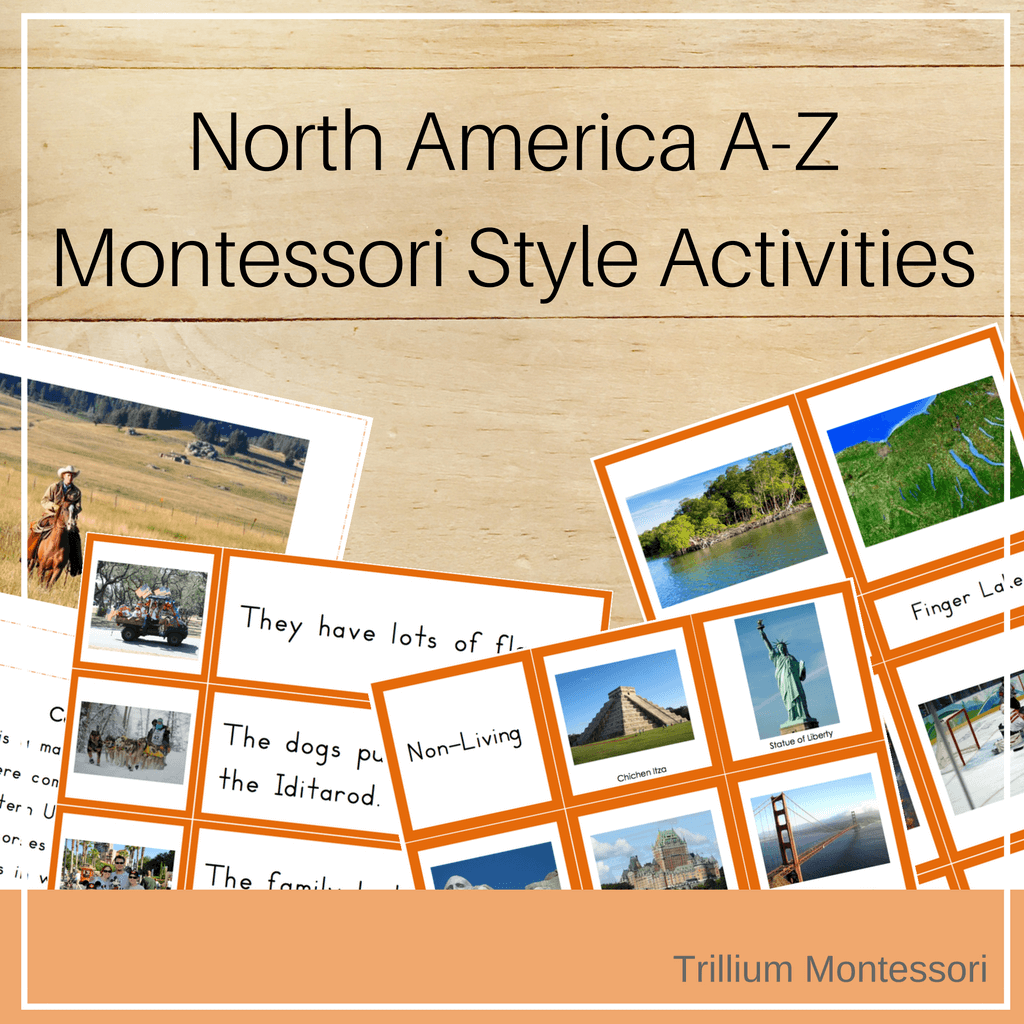 North America A-Z Montessori Pack - Trillium Montessori