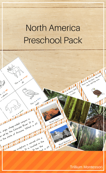 North America Preschool Pack - Trillium Montessori
