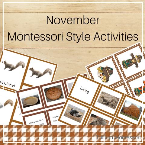 Montessori Style Activities for November - Trillium Montessori