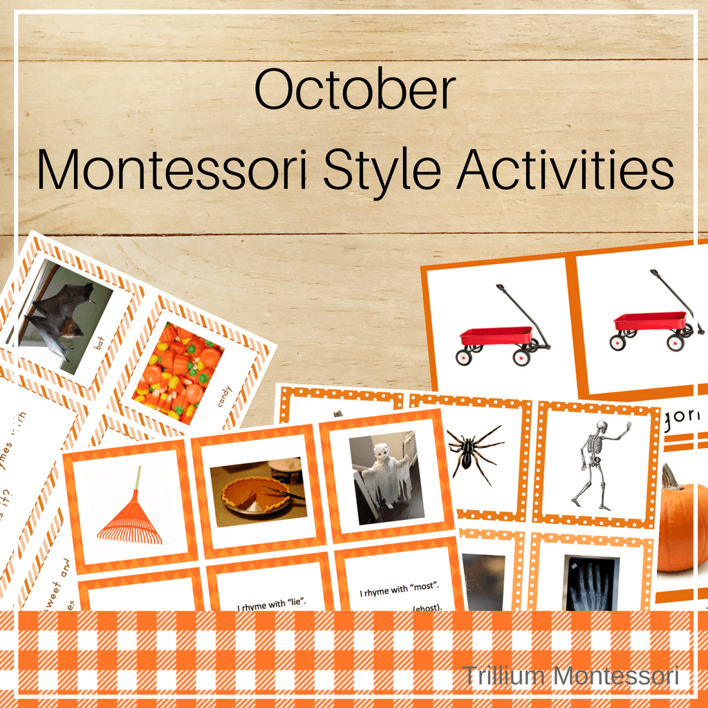 Montessori Style Activities for October - Trillium Montessori