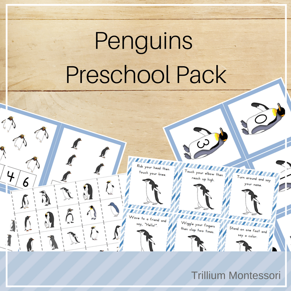 Penguins Preschool Pack - Trillium Montessori