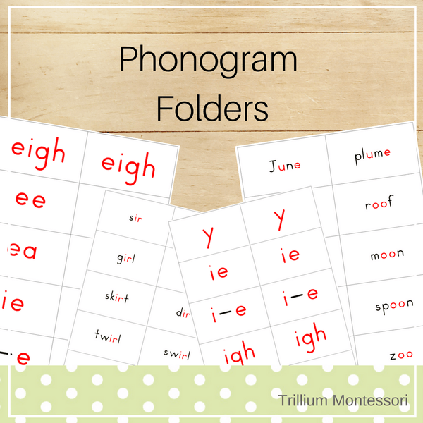 Phonogram Folders - Trillium Montessori