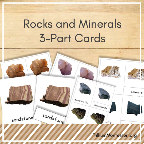 Rocks and Minerals 3-Part Cards