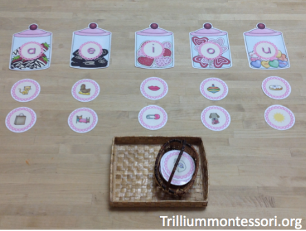 Candy Shop Middle Vowel Read and Sort - Trillium Montessori