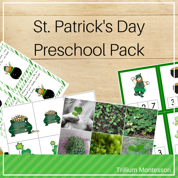 St. Patrick's Day Preschool Pack - Trillium Montessori