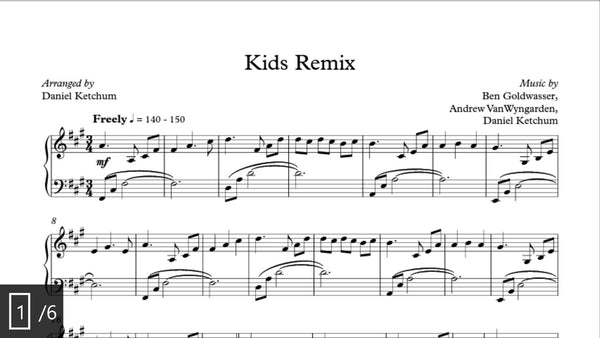 Kids Remix Sheet Music (download)