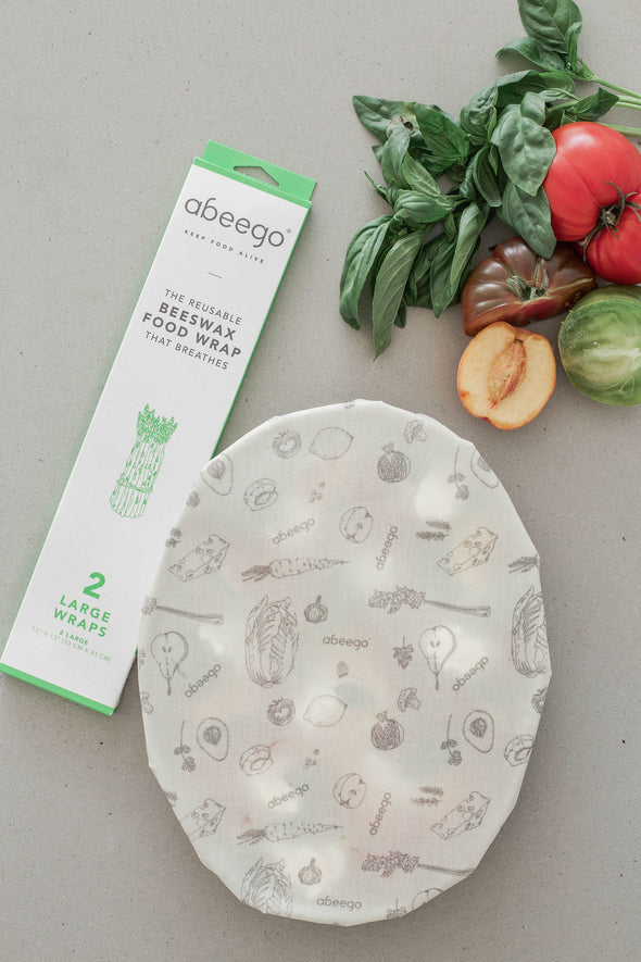 Abeego Beeswax Food Wrap - 2 Large Wraps