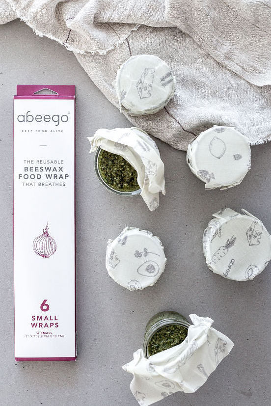 Abeego Beeswax Food Wrap - Six Small Wraps
