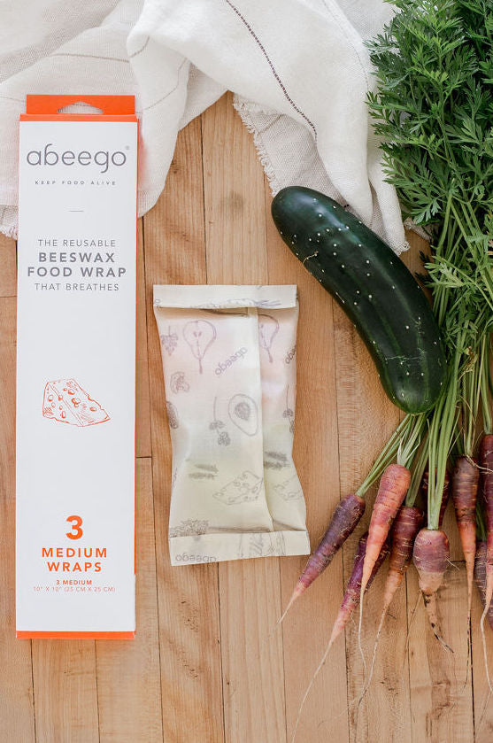 Abeego Beeswax Food Wrap - 3 Medium Wraps