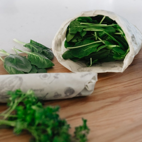Abeego-wrapped spinach
