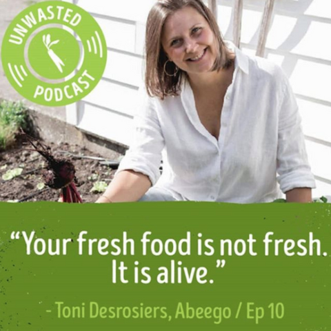 "Toni says ""Your Fresh Food is not fresh, it is alive"""