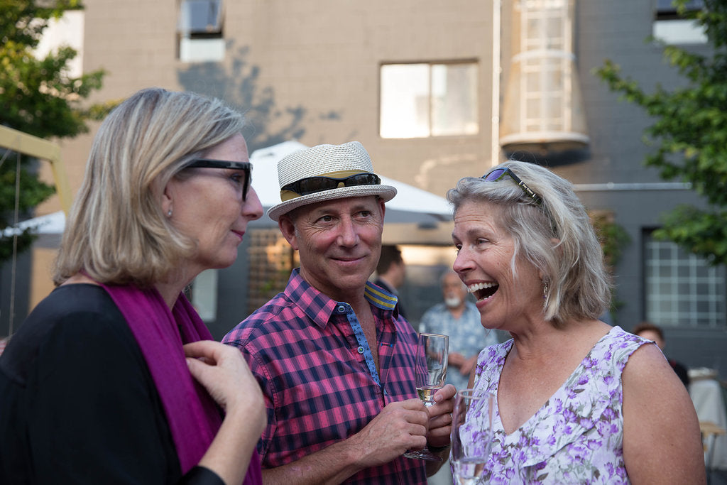 Vicki Saunders (Founder of SheEO) and Katherine Walker of Wildplay at Abeego's 10th Birthday