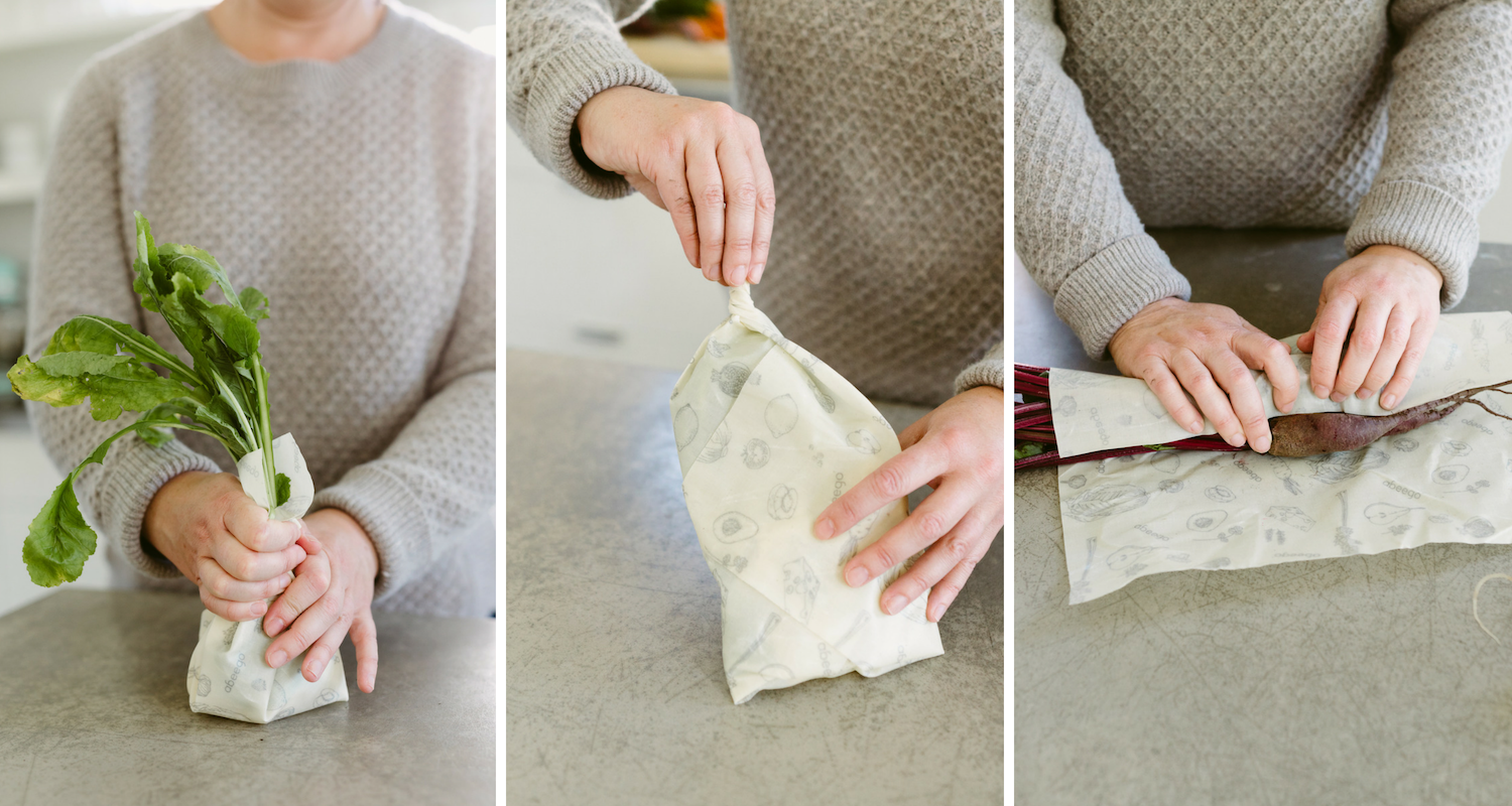 Different beeswax wrap wrapping techniques to Keep Food Alive | Abeego