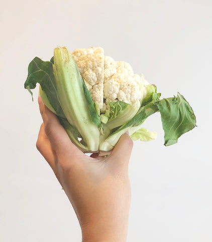 Cauliflower wrapped in Abeego VS Cauliflower left bare