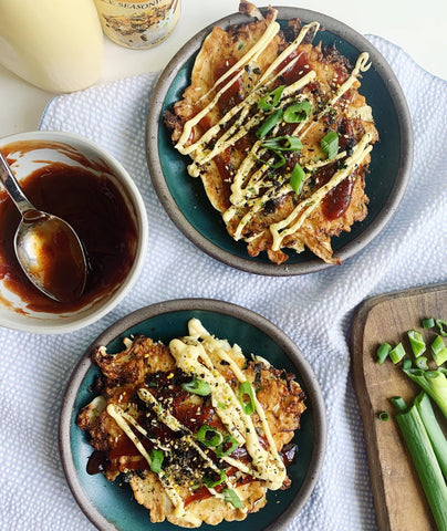 Food Waste Feast's okonomiyaki using up various vegetables cleared out of the fridge