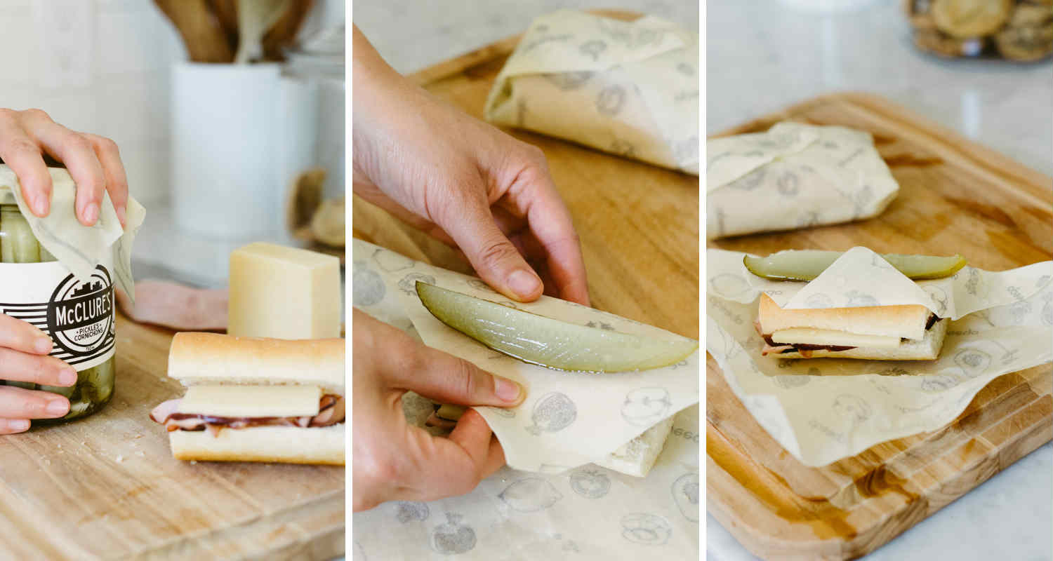 The Pickle Wrap! Abeego Beeswax Sandwich Wrap